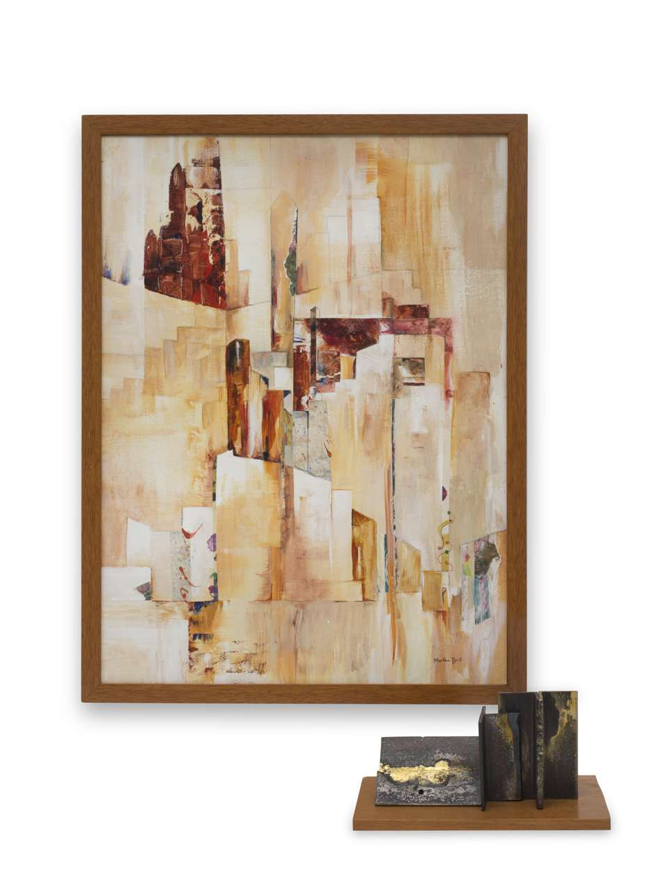 Cityscape in Gold by Martha Brill