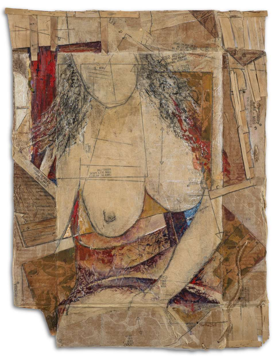 Seated Nude by Martha Brill